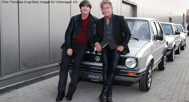 Joachim Löw and Peter Maffay. Foto: Franziska Krug/Getty Images für Volkswagen AG